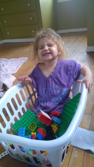 Legos are AWESOME. Laundry Baskets are AWESOME. Legos and laundry baskets are AWESOME!